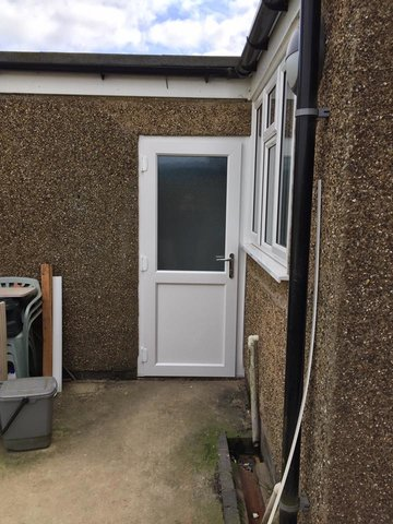 u-PVC Back Door Fitted In Yardley Hastings
