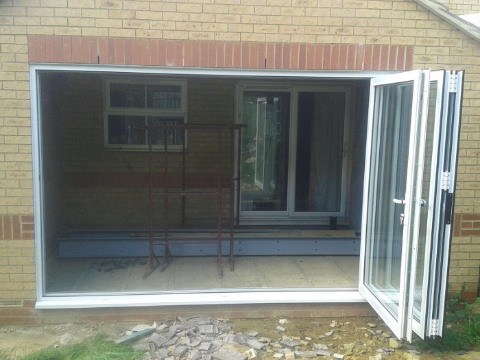 Display of the Open Bi-Fold Doors in Wootton, Northampton
