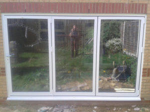 Closed View of the Bi Folding Doors Install in Wootton, Northampton