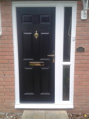Composite Door With Side Light
