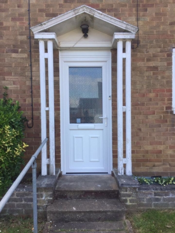 Elderly lady previous front door wouldn't open it had total lock failure (door was 20 + years old) our highly skilled staff manufactured and installed a new white uPVC door within 4 days